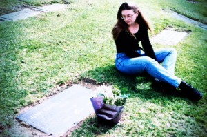 Charles Bukowski's grave California 1995