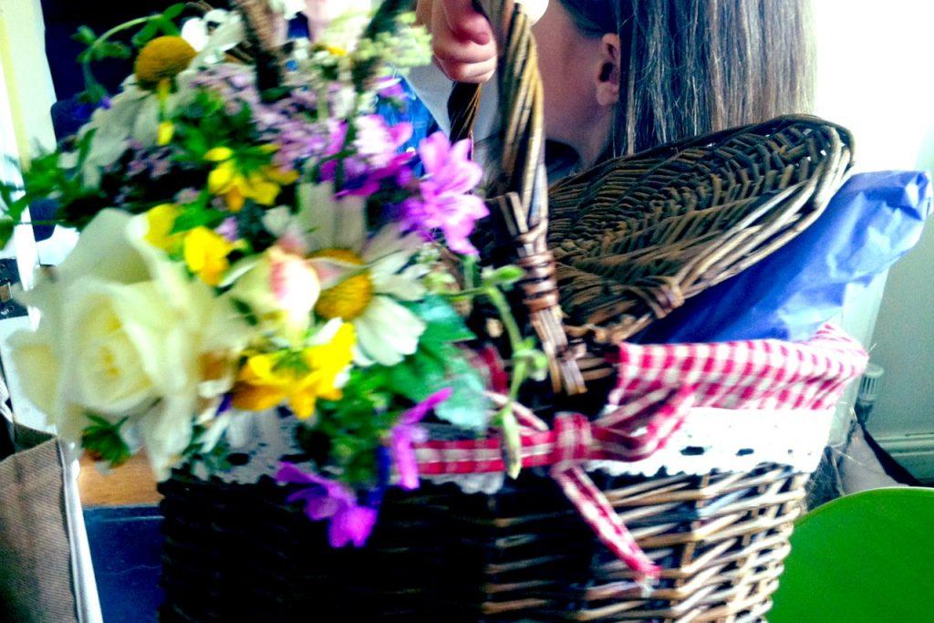 Sunday flower basket