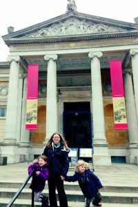 Family day out at the Ashmolean museum Oxford