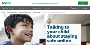 the NSPCC site aims to help parents keep children safe online