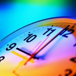 colourful clock