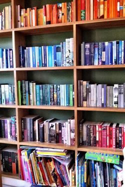 A shared bookshelf
