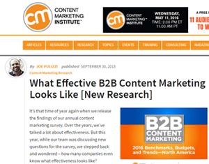 CMI's article on the importance of a documented content strategy